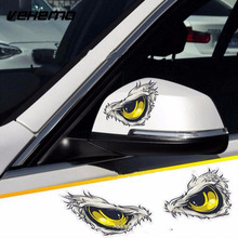 2pcs Car Sticker Reflective Eagle Eye 3D Stereo Simulation Cat Peek Accessories Auto products TZ04