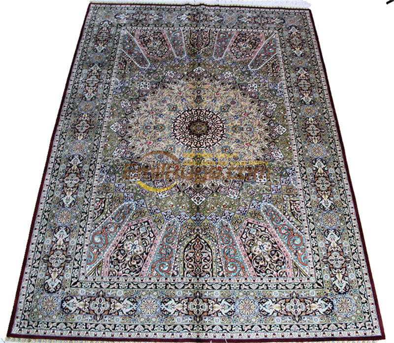 Laine ou soie persan fait main Crochet tissu d'ameublement maison pour salon laine tricot tapis Antique tapis - 2