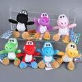 7 unids/lote Super Mario Yoshi niños juguete Anime Mario Bros Kawaii llavero juguete de felpa suave relleno felpa muñeca de juguete de felpa de la muchacha del muchacho