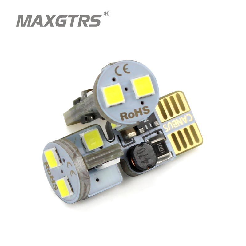 2x Canbus Upgrade White T10 W5W Led 12v Wedge Bulb Car Light 3030 SMD Auto Parking Lights Sidemarker Sidelight Lamp 2pcs car led headlight kit led bulb d33 h11 free canbus auto led lamps white headlamp with yellow light fog light for citroen c4