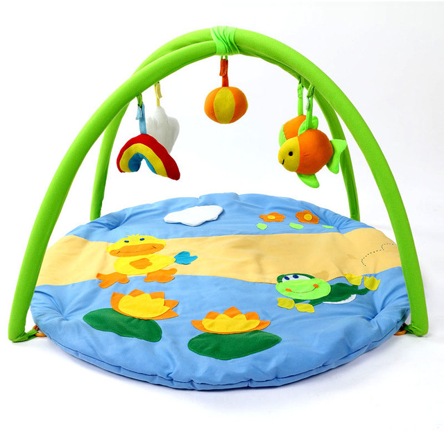 530f4189a1d8 Cartoon Fun Duck Cotton Baby Play Mats 0 1 Year Baby Kids ...