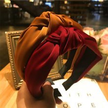 Haimeikang Solid Colors Hair Knotted Hair Band for Women Headbands Hairbands Headwear 2018 New Arrival(China)
