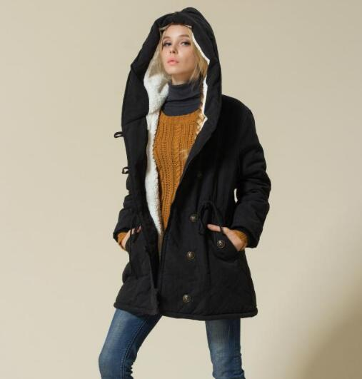 Maternity Winter Jackets Cotton Padded Pregnant Women Version Long Section Cashmere Coat Winter Jackets the new korean version of loose pregnant women cotton dress thick maternity dress in the long section of cotton coat
