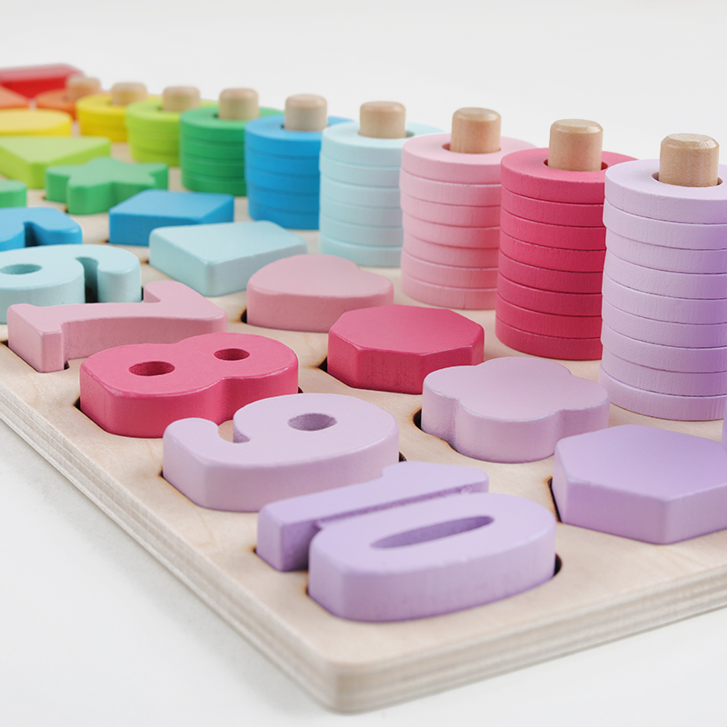 brinquedos infantis brinquedos de madeira contando formas 04