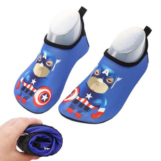 2e3aa61f336a Unisex Swimming Water Shoe Kids Captain America Quick Dry Anti-slip  Barefoot Skin Shoes for Run Dive Surf Swim Beach Sandy beach