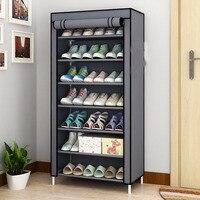 Simple Multi Layer Shoe Rack Oxford Cloth Galvanized Tube Assembled Storage Closet for Home Furniture Hallway Shoe Organizer