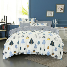 Wongsbedding 100% Cotton Tree Duvet Cover Sets Plant Bedding Set Twin Full Queen King Size 3/4PCS Sheet Beddings