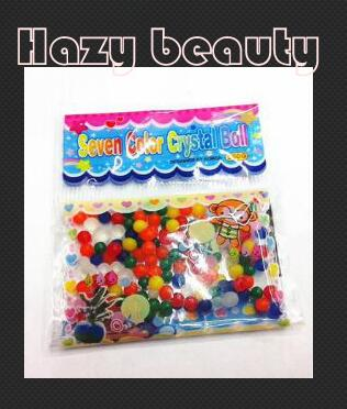 10bags April du seven color Crystal ball water beads growing water balls for Kids toy ...