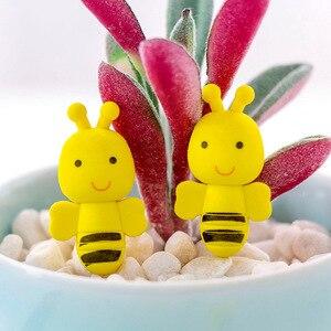 2 шт., милые мини-ластики в виде пчелы, креативный ластик-насекомое для детей, подарок для студентов, рисунок, каваи, канцелярские принадлежно...