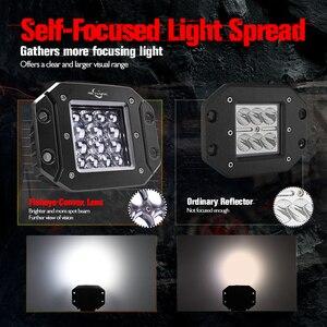 """Image 3 - MICTUNING 2 sztuk 5 """"42W LED światła wiązka punktowa dla Philips chip listwa świetlna LED światła do jazdy wodoodporna robocze Led światła przeciwmgielne do ciężarówki"""