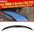 Задний спойлер задний P Стиль для BMW F30 F35 320i 325i 328d 328i 330i 335i углеродное волокно спойлер заднего багажника  крыла Стайлинг автомобиля 2012-in