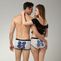 Hot Sale Couple Underwear Lovers Panties Men Boxers Shorts Cartoon underwear Underpants Cuecas Calzoncillo Cotton Panty Boxer XL