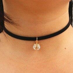 N933 choker necklaces women black velvet suede leather chain short collares zircon fashion jewelry gothic 90.jpg 250x250