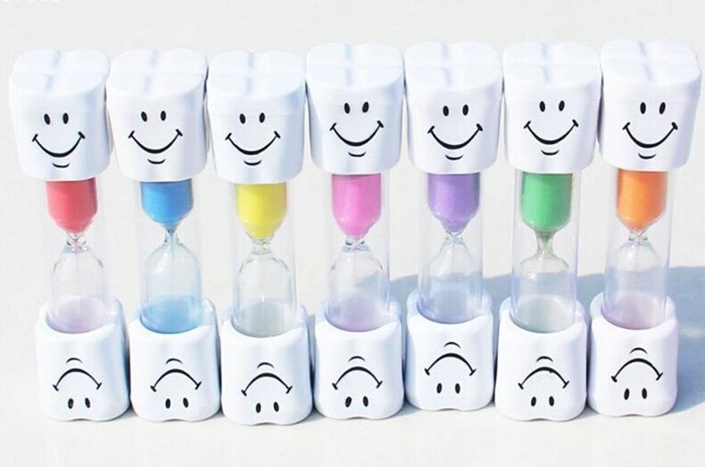 1pc 3 minuters timglas Sand Timer Clock Sandglas för tandborste - Heminredning - Foto 2