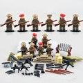 D163 2 Guerra Mundial REINO UNIDO Británico octavo Figuras de Soldados Del Ejército de campaña Del Norte de África Con Armas Pistolas LegoINGlys Bloques Militares WW2