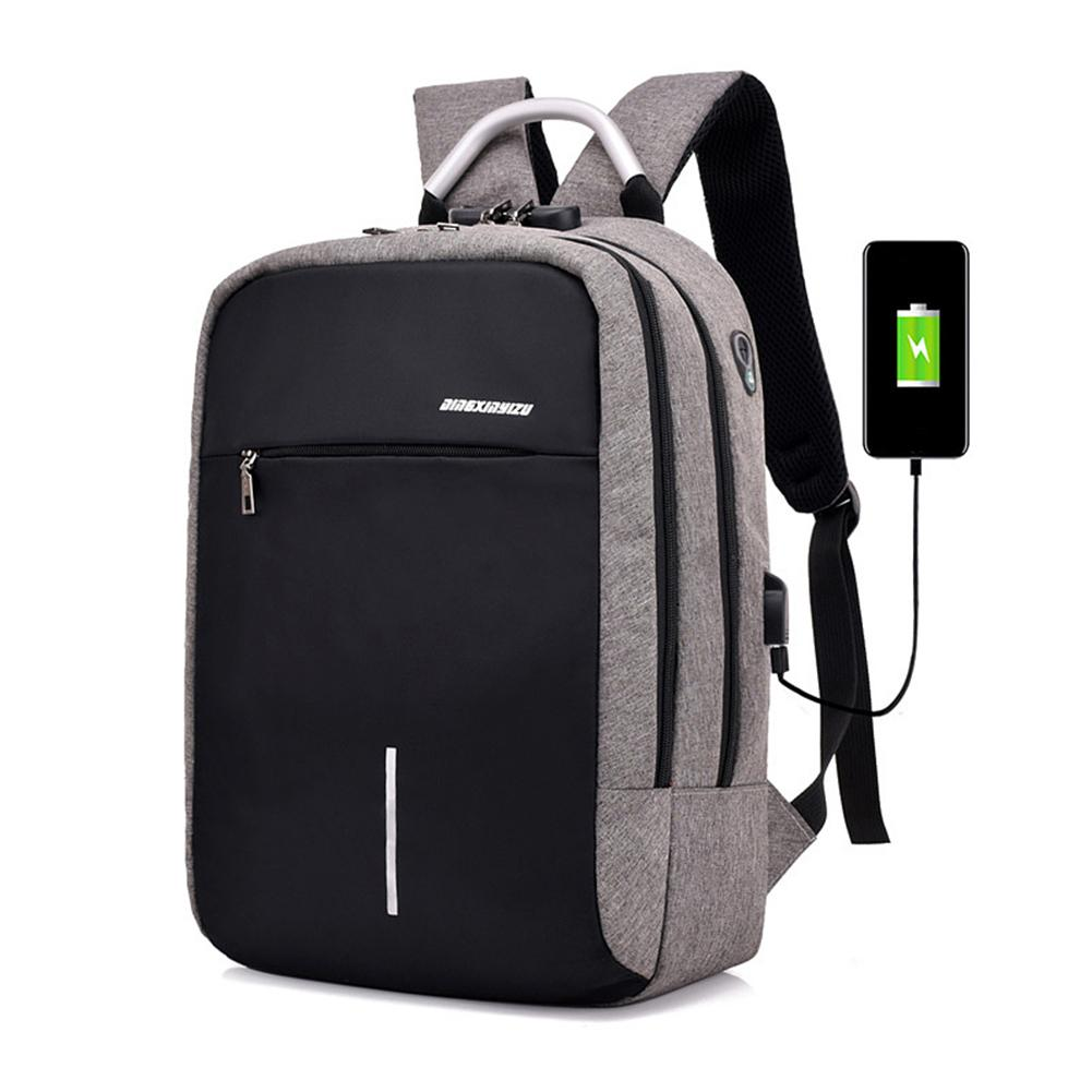 Men Travel Backpack Large Capacity Teenager Male Mochila Back Anti-thief Bag USB Charging 16 Inch Laptop Backpacks  Waterproof