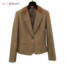 Весенне-осенний женский жилет, блейзер и брюки, комплект из 3 предметов, новинка, Ретро стиль, британский стиль, приталенный Модный повседневный Блейзер, Feminino LH530
