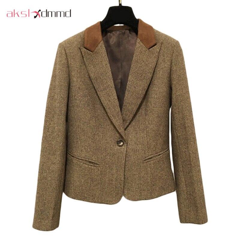 Spring Autumn Women Vest & Blazer & Pants 3pcs Suit Set 2019 New Retro British Style Slim Fashion Casual Blazer Feminino LH530