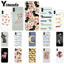 Yinuoda Animals Dogs Dachshund Soft TPU Phone Case for Apple iPhone 8 7 6 6S Plus X XS MAX 5 5S SE XR Mobile Cover yinuoda animals dogs dachshund soft tpu phone case for apple iphone 8 7 6 6s plus x xs max 5 5s se xr mobile cover