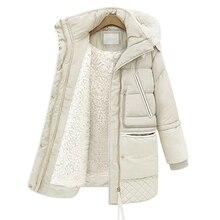 2017 New Winter Plus Size Women's Thick Padded Warm Jackets Long Sleeve Slim Thin Jacket Coats Lambs 4L96