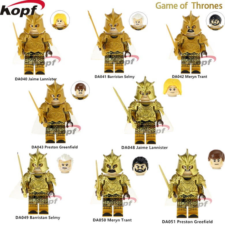 Single Sale Game of Thrones  Barristan Selmy Jamie Lannister Meryn Trant Preston Greefield Model For Children Bricks Toys Gift