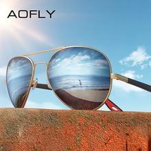 Aofly Brand Design Klassieke Gepolariseerde Zonnebril Mannen Vrouwen Rijden Pilot Frame Zonnebril Mannelijke Goggle UV400 Gafas De Sol AF8186