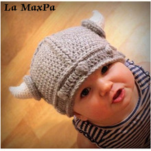 New Fashion Soft Baby Hat Children Cap With Horn Warm Winter Hats Cute Beanie Knitted Wool Spring Autumn hats Photography
