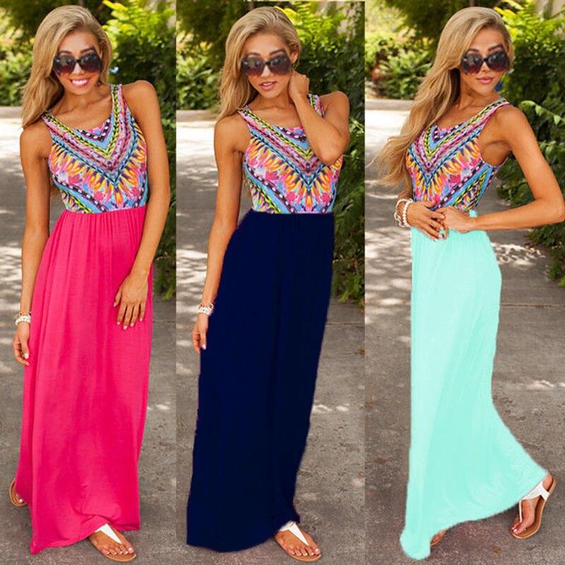 Detail Feedback Questions about Women Sexy Bohemian Boho Long Maxi Evening  Party Dress Beach Dresses Sundress 2016 fashion new style on Aliexpress.com  ... 71fee18f2