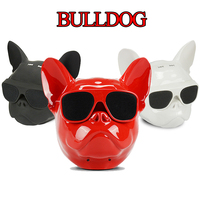 Makescc Chritmas Bulldog Bluetooth Speaker Wireless Mini Portable Stereo Charge Dog MP3 Palyer Music Radio Mobile Speakers Gift