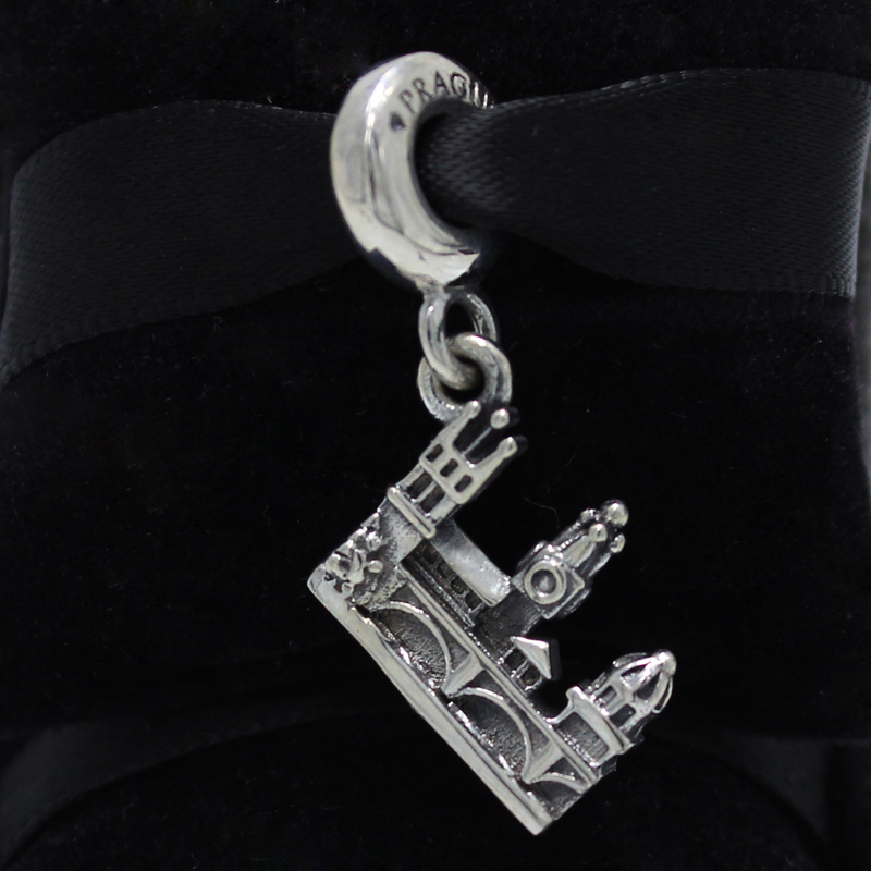 ROCKART 925 Sterling Silver Charles Bridge Silver Pendant Charm Fits European Original Brand Bracelets & Bangle Diy Jewelry цена
