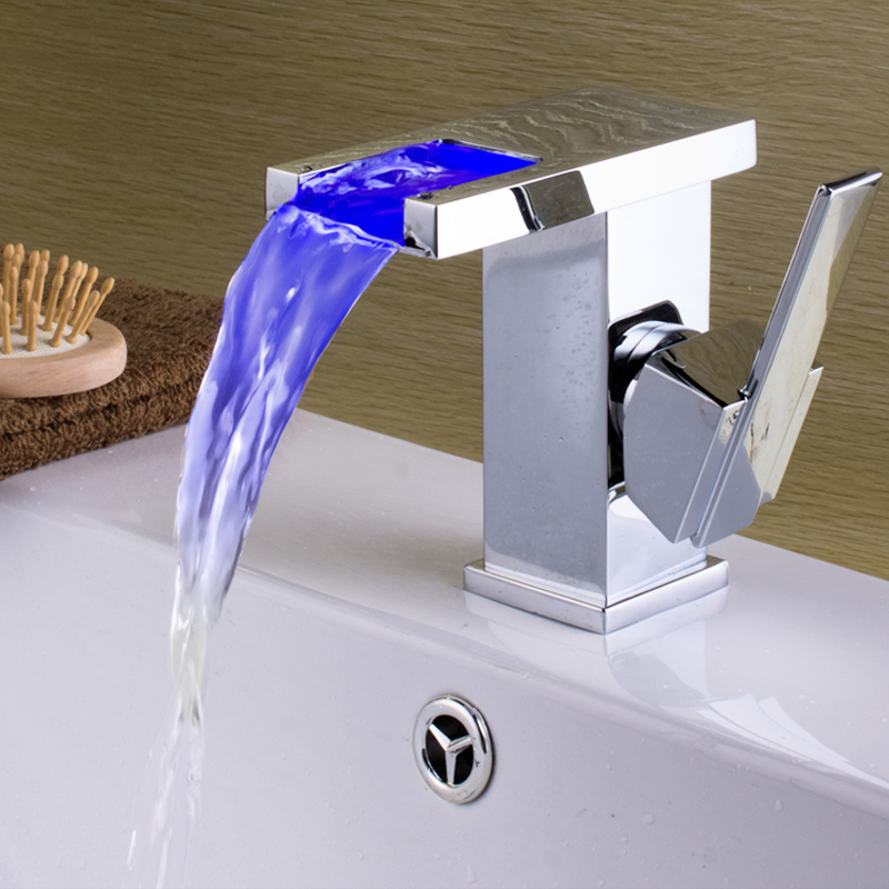 Superfaucet LED Faucet,Faucet Bathroom,Sink Faucet,Waterfall Faucet,Bathroom Tap,Water Tap Bathroom HG-1205DA