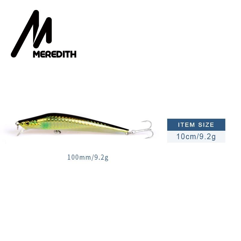 Meredith Señuelos de pesca 1 unids 9.2 g 100 mm Minnow flotante duro - Pescando - foto 2
