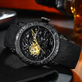 2019 модные автоматические механические мужские часы с золотым Драконом  скульптура  наручные часы  Топ бренд  роскошные часы  водонепроницае...