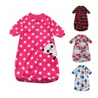 Baby Sleeping Bag Cute Sleep Sack For Newborn Polar Fleece Infant Clothes style sleeping bags Sleeve Romper for 0-9M