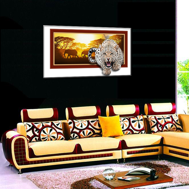 single unframed realist animals printed paintings on canvas for living romm hotel decoration wall art