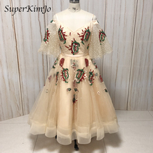 real picture prom dresses 2019 lace embroidery short sleeve beading sequins evening gowns arabic