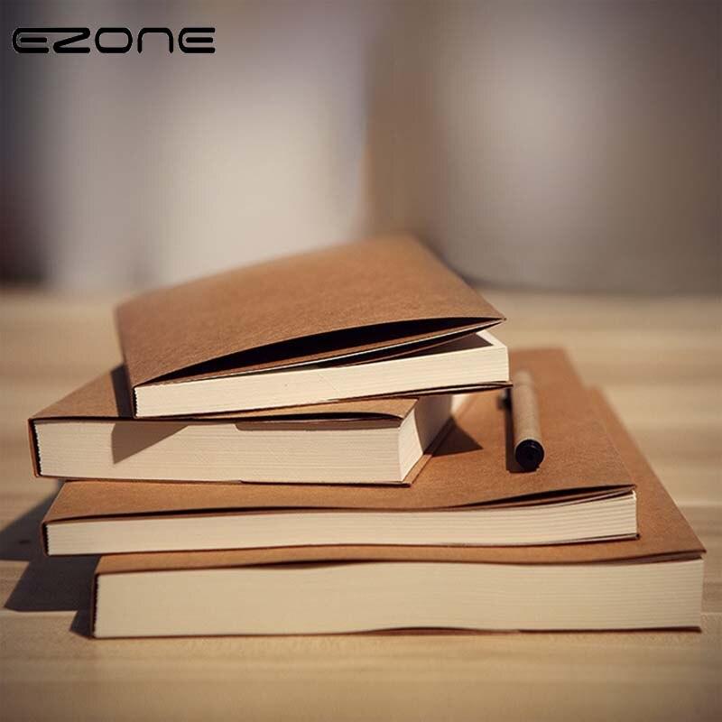 EZONE креативный блокнот, простая коричневая/бежевая бумага, пустые страницы, эскиз, блокнот для путешествий, блокнот, школьные офисные принадлежности|notebook simple|creative notebooknotebook supply | АлиЭкспресс