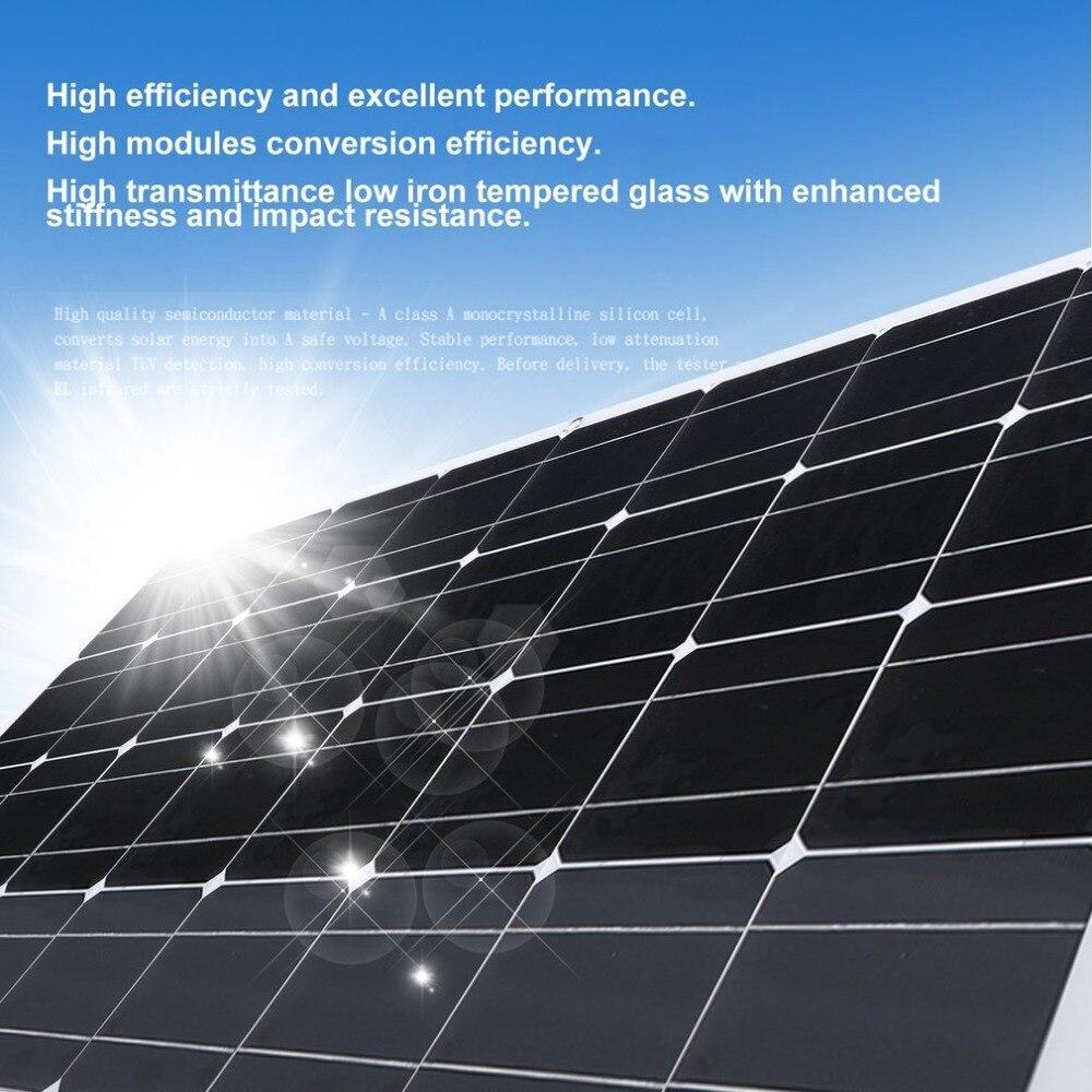 130w Monocrystalline Silicon Solar Power System Module