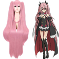 New Arrive 100cm Seraph of the end Krul Tepes pink long straight synthetic cos wig