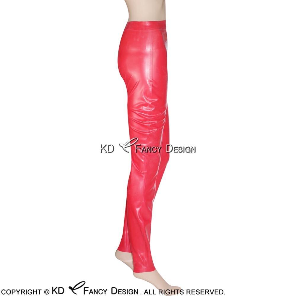 Suitop lattice di gomma rosso legging sexy in lattice pantaloni stretti per gli uomini - 2