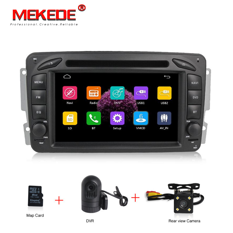 Capacitive screen Car DVD Player For Mercedes/Benz/CLK/W209/W203/W168/W208/W463/W170/Vaneo/Viano/Vito/E210/C208 FM GPS Radio eunavi 2 din 9 android 7 1 car radio stereo gps for mercedes benz c class w203 s203 c180 c200 clk class c209 w209 c208 w208
