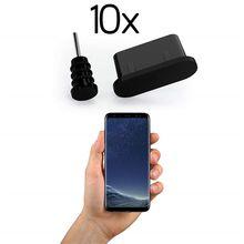 10x противопылевые заглушки USB C отверстия для зарядки 3,5 мм разъемы для наушников силиконовые Тип C порт защита от пыли разъем для Samsung S9 S8 Huawe