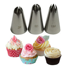 Dropshipping Large Size Rose Flower Cake Decorating Icing Tips Cupcake Nozzles Baking Decorations Bakeware Russian Nozzles