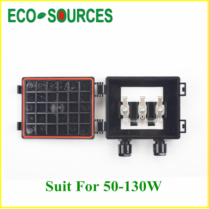 5 Pieece Solar Junction Box for 50W -130W Solar Panel with 2 Higth Grade Diodes for PV Solar Panel System Solar Generators 550mm 20m diy solar panel eva film sheet for pv cells encapsulation