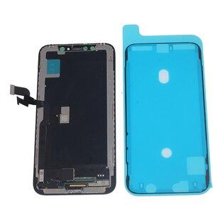 Image 4 - חדש LCD עבור iPhone X XS XR גמיש נוקשה קשה OLED LCD עבור iPhone X XS GX AMOLED תצוגת רך עם 3D מגע ערכת תיקון