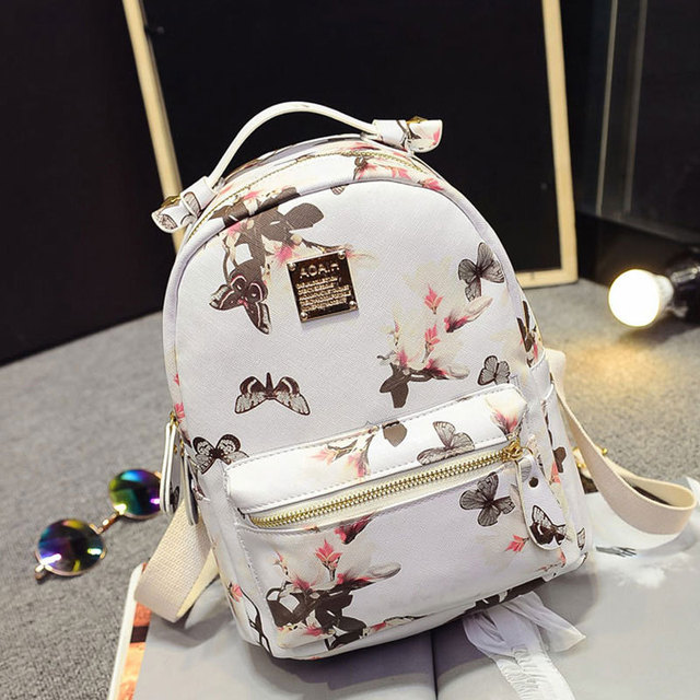 e1cbb859077e Women Backpack 2016 Hot Sale Fashion Causal High Quality Floral Printing PU  Leather Backpacks For Girls