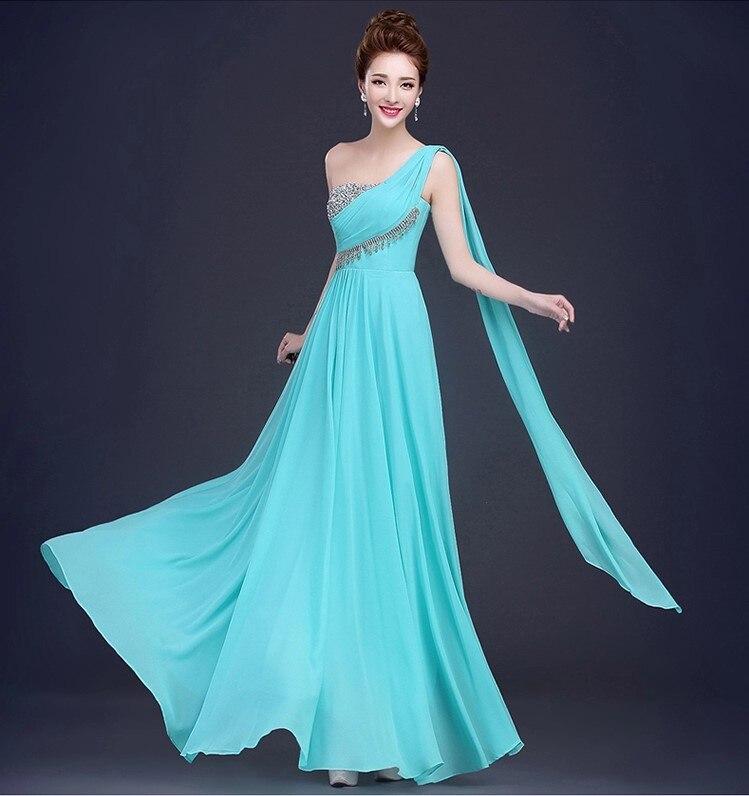 Vestido De Festa De Casamento Hot Chiffon Sequins A-Line Coral Color Long Bridesmaid Dresses Under 50 Wedding Party Dress