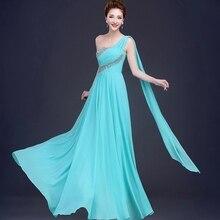 Vestido de festa de casamento hot chiffon sequins A-Line coral color long bridesmaid