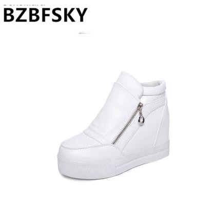 Hot Sales new spring Autumn silver White Hidden Wedge Heels Casual shoes  Women s Elevator High- 631a11bac07c