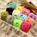 2016 Moda amor caramelo del punto del color de Espesor caliente pajarita Femenino divertidos calcetines de Lana de invierno las mujeres señoras del algodón 3d niñas calcetines calcetines y medias